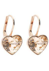 Swarovski Kolczyki Bella Heart 5515192 Złoty. Materiał: złote. Kolor: złoty
