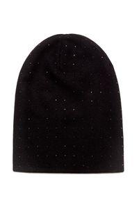 Czarna czapka William Sharp na zimę, elegancka