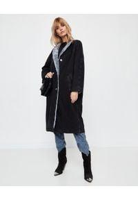 ISABEL MARANT - Jeansowy płaszcz Kaleia Faded Black. Kolor: czarny. Materiał: jeans. Długość rękawa: długi rękaw. Długość: długie. Styl: sportowy