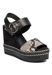 Czarne sandały Kanna na co dzień, casualowe