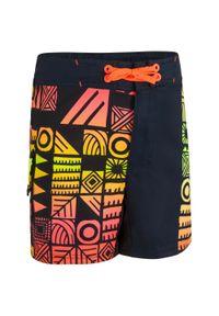 OLAIAN - Spodenki Surfing Bs 500 Dla Dzieci. Kolor: pomarańczowy. Materiał: poliester, materiał. Długość: krótkie