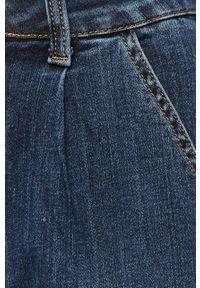 Niebieskie jeansy ANSWEAR z podwyższonym stanem, wakacyjne