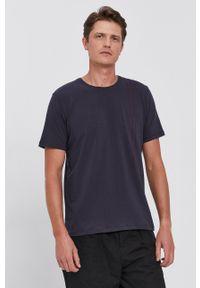 BOSS - Boss - T-shirt. Okazja: na co dzień. Kolor: niebieski. Wzór: nadruk. Styl: casual