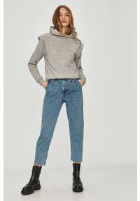Szara bluza Answear Lab wakacyjna, melanż, długa