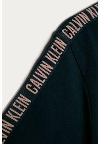 Niebieska bluzka z krótkim rękawem Calvin Klein Underwear na co dzień, z nadrukiem, casualowa