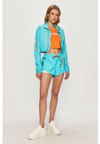 Pomarańczowa bluzka LABELLAMAFIA z nadrukiem, casualowa, na co dzień