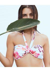 AGUA BENDITA - Top od bikini Hera Oazze. Kolor: biały. Materiał: tkanina. Wzór: nadruk, kwiaty, aplikacja, kolorowy