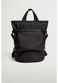 Czarny plecak Mango Man gładki