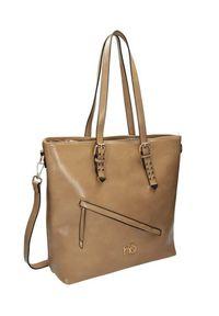Shopper damski beżowy Nobo NBAG-J3990-C015. Kolor: beżowy. Wzór: gładki. Materiał: skórzane