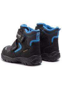Czarne buty zimowe Superfit z cholewką, na spacer