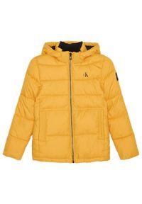 Żółta kurtka puchowa Calvin Klein Jeans