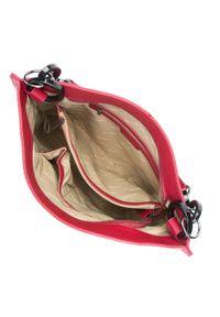Wittchen - Torebka worek skórzana z kółkami. Kolor: czerwony. Materiał: skórzane. Rozmiar: duże. Rodzaj torebki: na ramię