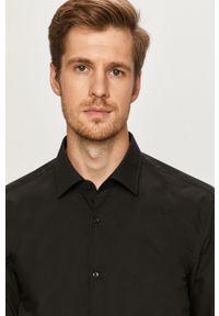 Czarna koszula Hugo z długim rękawem, klasyczna