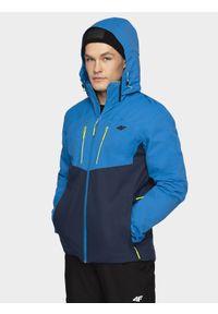 4f - Kurtka narciarska męska 4FPro. Kolor: niebieski. Materiał: mesh, materiał. Technologia: Dermizax. Sezon: zima. Sport: narciarstwo