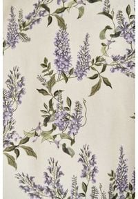 Marie Zélie - Sukienka Duilin Wisteria kremowa. Kolor: kremowy. Materiał: bawełna, wiskoza, tkanina. Typ sukienki: kopertowe