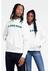 G-Star RAW - G-Star Raw - Bluza x Snoop Dogg. Okazja: na co dzień. Typ kołnierza: kaptur. Kolor: biały. Materiał: poliester. Wzór: nadruk. Styl: casual