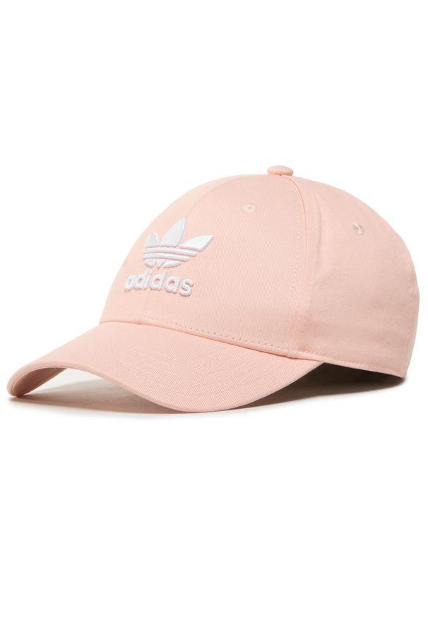 Różowa czapka z daszkiem Adidas