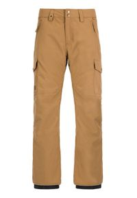 Brązowe spodnie sportowe Quiksilver snowboardowe
