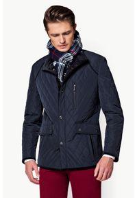 Niebieska kurtka Lancerto ze stójką, na jesień, na co dzień, casualowa