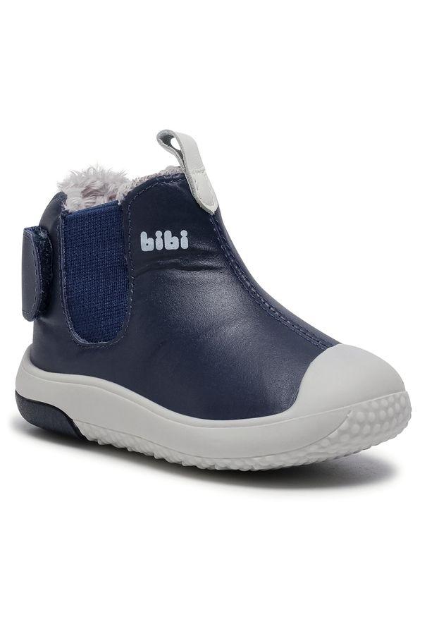 Niebieskie półbuty Bibi z cholewką