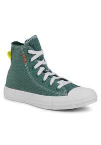 Zielone trampki Converse na co dzień, casualowe, z cholewką