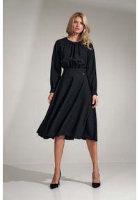 Czarna sukienka Figl midi