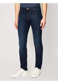 Lee Jeansy Slim Fit Rider L701DHGP Granatowy Slim Fit. Kolor: niebieski. Materiał: jeans