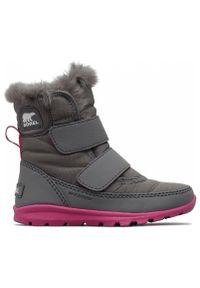 sorel - Sorel Buty Dziecięce Zimowe Whitney Velcro-Quarry. Sezon: zima