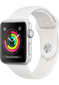 APPLE - Smartwatch Apple Watch Series 3 GPS 38mm Silver Alu Biały (MTEY2MP/A). Rodzaj zegarka: smartwatch. Kolor: biały