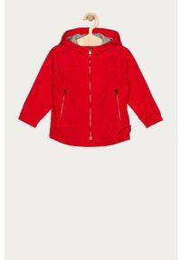 Czerwona kurtka GAP na co dzień, gładkie, z kapturem, casualowa