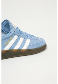 Niebieskie sneakersy adidas Originals z cholewką, do piłki ręcznej
