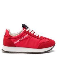 Czerwone buty sportowe Calvin Klein Jeans