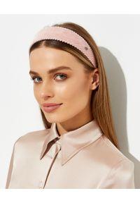 MAISON MICHEL PARIS - Różowa opaska Miwa. Kolor: różowy, wielokolorowy, fioletowy. Materiał: bawełna