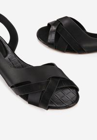Renee - Czarne Sandały Idahmei. Kolor: czarny