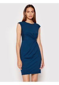 DKNY Sukienka koktajlowa DD1EV652 Niebieski Slim Fit. Kolor: niebieski. Styl: wizytowy