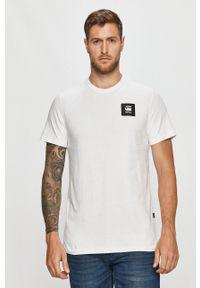 G-Star RAW - G-Star Raw - T-shirt. Okazja: na co dzień. Kolor: biały. Materiał: dzianina. Wzór: gładki, aplikacja. Styl: casual