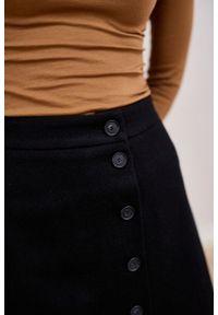 Marie Zélie - Spódnica Verona wełna czarna. Kolor: czarny. Materiał: wełna