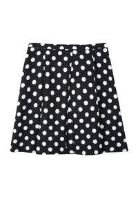 Czarna spódnica TOP SECRET na lato, w kropki, elegancka