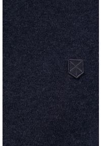 Premium by Jack&Jones - Sweter z domieszką kaszmiru. Okazja: na co dzień. Kolor: niebieski. Materiał: kaszmir. Długość rękawa: długi