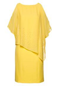 Żółta sukienka bonprix ołówkowa