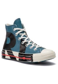 Converse - Trampki CONVERSE - Chuck 70 Hi 563471C Celestial Teal/Bla. Kolor: niebieski. Materiał: skóra. Szerokość cholewki: normalna