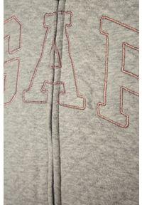 Szara bluza rozpinana GAP casualowa, na co dzień, z aplikacjami, z kapturem