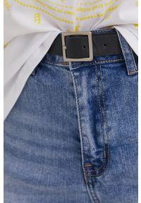 Niebieskie szorty Answear Lab wakacyjne, na co dzień, gładkie