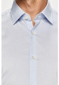 Hugo - Koszula. Typ kołnierza: kołnierzyk klasyczny. Kolor: niebieski. Materiał: tkanina. Długość rękawa: krótki rękaw. Długość: krótkie. Styl: klasyczny