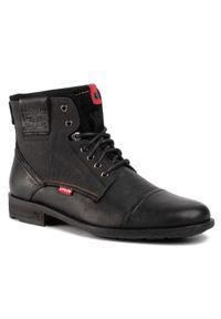 Czarne buty zimowe Levi's® casualowe, na co dzień
