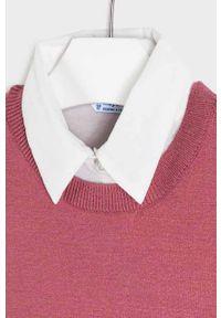 Różowy sweter Mayoral na co dzień, casualowy
