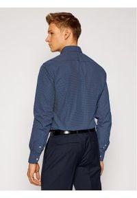 TOMMY HILFIGER - Tommy Hilfiger Tailored Koszula Poplin Print 2 Color TT0TT08202 Granatowy Slim Fit. Kolor: niebieski. Wzór: nadruk