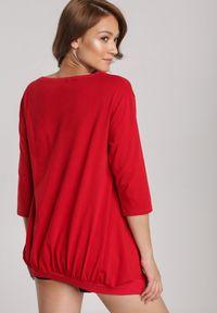 Renee - Czerwona Bluza Criameia. Kolor: czerwony. Materiał: dzianina. Długość: długie