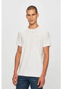 Biały t-shirt JOOP! z okrągłym kołnierzem