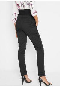 Spodnie ciążowe chino bonprix czarny. Kolekcja: moda ciążowa. Kolor: czarny